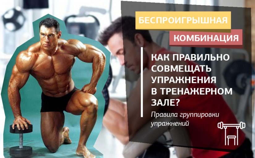 Как правильно совмещать упражнения в тренировках на разные группы мышц